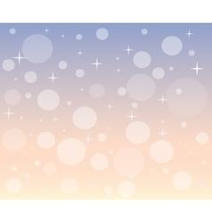 Christmas snowfall at dawn vector image vector image