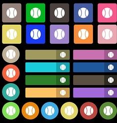baseball icon sign Set from twenty seven vector image vector image