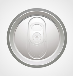 Can top view vector image