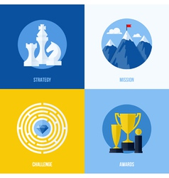 Concepts for strategy mission challenge awards vector image vector image