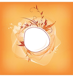 cute frame design vector image vector image