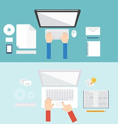 Element of computer concept icon in flat design vector image