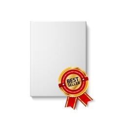 Realistic blank hardcover book front view with vector