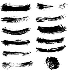 Set of brush strokes Brush stroke collection vector image vector image