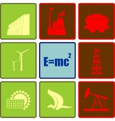 Energy and Power icons set vector image