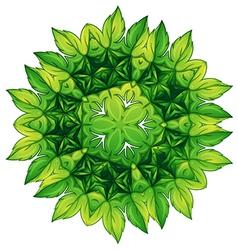 Green leafy border design vector image vector image
