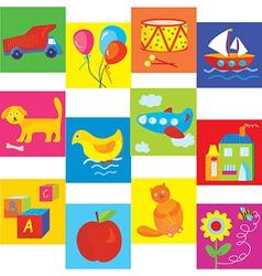 Toys set for baby and child vector image vector image