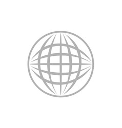 world logo template vector image