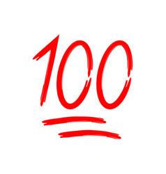 100 percent 100 score emoji one hundred icon vector