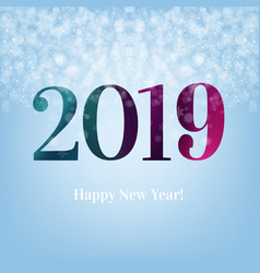 2019 blue new year postcard vector image