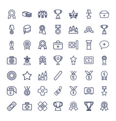 49 first icons vector