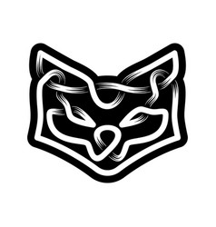 abstract head fox celtic ornament in black and vector image