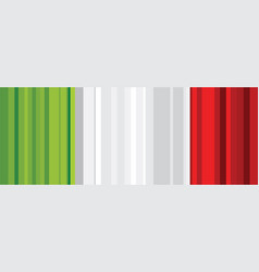 abstract italian flag abstract banner second of vector image