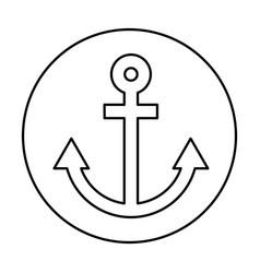 Anchor maritime isolated icon vector