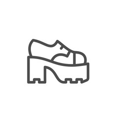 Ankle boot icon vector
