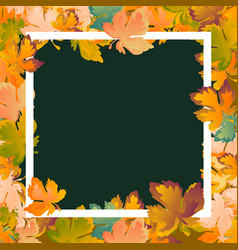 autumn background layout decorate leaves shopping vector image