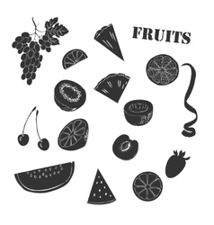 Background with fruit1-09 vector image