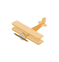 Biplane icon isometric 3d style vector image