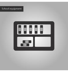 black and white style icon of folder shelf vector image