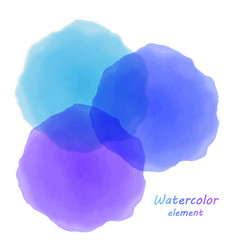 blue watercolor blotch set of blue watercolor vector image
