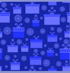 blue wrapping christmas seamless paper with vector image