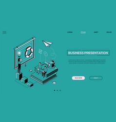 Business presentation - line design style vector