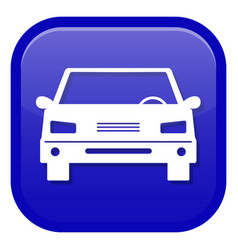 car icon front view vector image