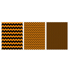 chevron patterns 3 various zig zag layouts vector image