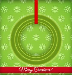 Christmas round frame with place for text vector image vector image