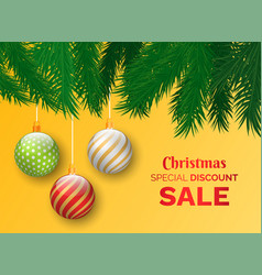 christmas sale special discounts and offers store vector image