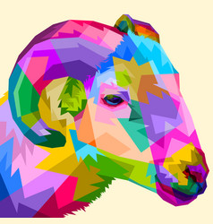 colorful sheep on pop art style vector image