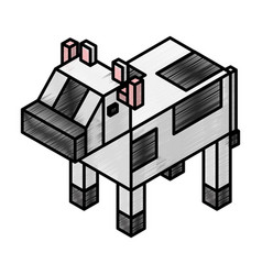 cow isometric isolated icon vector image