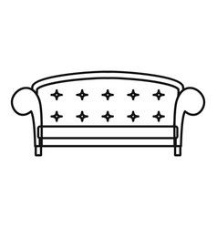 crown sofa icon outline style vector image