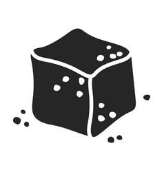 Cube sugar iconblack icon vector