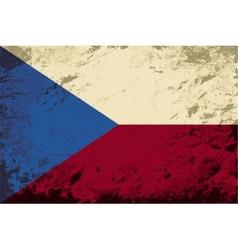 Czech flag Grunge background vector