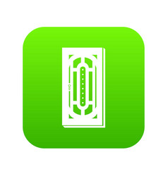 Doorway icon green vector