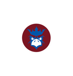 eagle king logo vector image