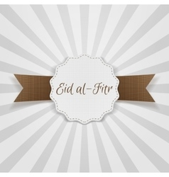 Eid al-Fitr decorative festive Badge vector