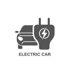 Electro car simple related icon set vector
