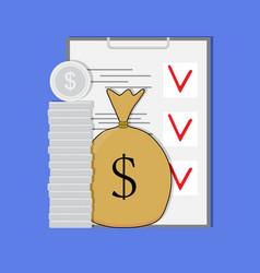 Finance planning vector