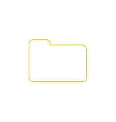 flat design style of closed folder icon on white vector image