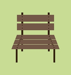 Garden Bench Icon vector image