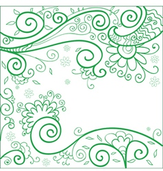 Green flower background vector image