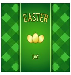 Green Happy Easter card vector