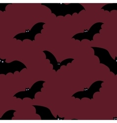 Halloween seamless background with bats vector
