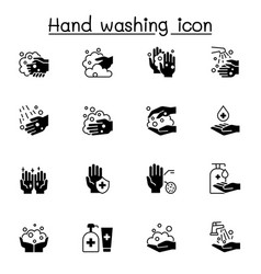 Hand washing icon set graphic design vector
