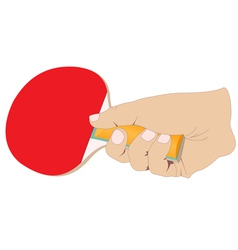 Hand with a tennis racket vector image