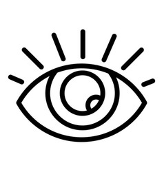 Healthy eye icon outline style vector