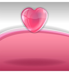 Hearts background pink white vector