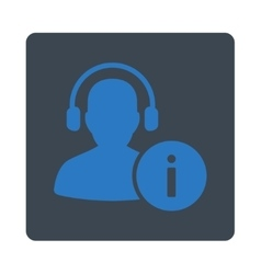 Help Desk Icon from Commerce Buttons OverColor Set vector image